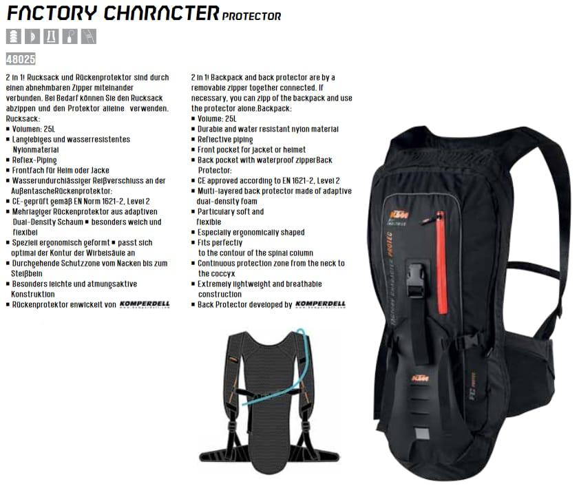 Plecak rowerowy KTM Factory Character
